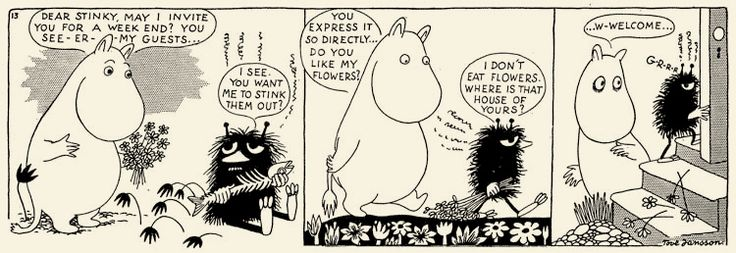 "<b>""I only want to live in peace and plant  potatoes and dream!""</b> The magical Moominvalley of Tove Jansson's imagination contains all you need to know for life."