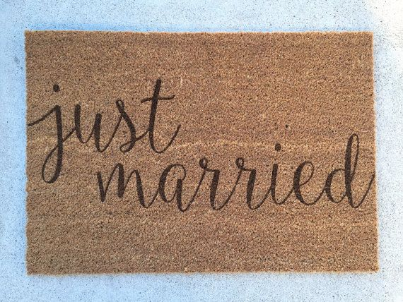 Custom Laser Engraved Door Mat Personalized Welcome by HBEngraved
