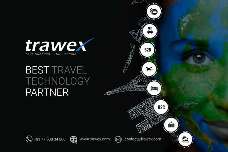 Trawex has been named the best technology partner for the travel industry. Over 1 million transactions happen on our customer 's travel portals in a day. With Trawex, Accelerate your Growth and Spark Innovation. http://www.trawex.com