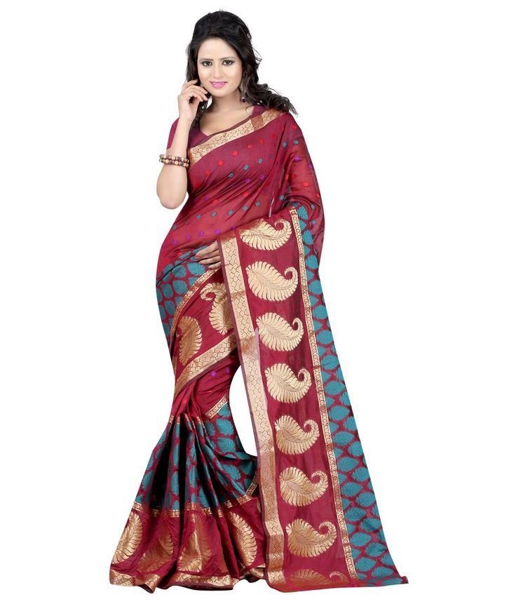 Loved it: Sanju Sarees Maroon Art Silk Sarees, http://www.snapdeal.com/product/sanju-maroon-banarasi-silk-saree/919451018