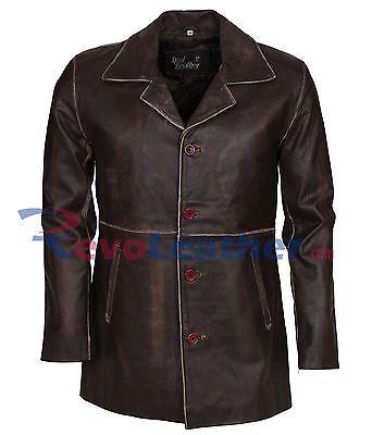 Supernatural Dean Winchester Distressed Vintage Brown Leather Coat For Men