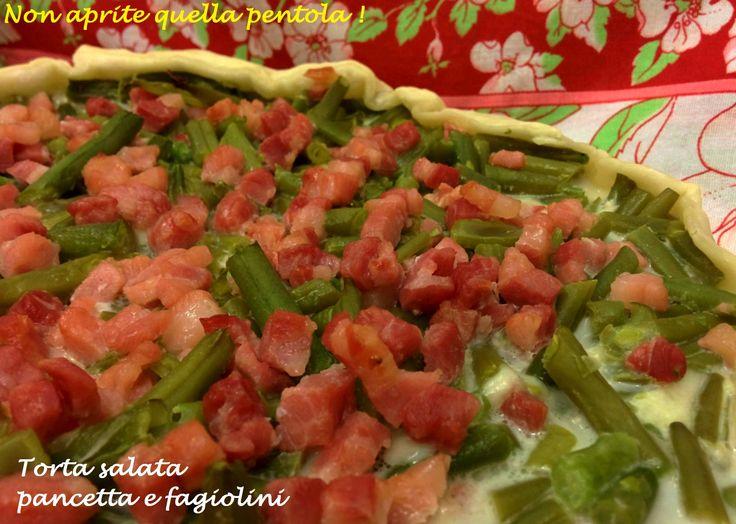 Fettina di quiche? Oggi torta salata fagiolini e pancetta :) Buon appetito!  http://blog.giallozafferano.it/nonapritequellapentola/torta-salata-pancetta-e-fagiolini/  #pancetta #fagiolini #mozzarella #tortasalata #quiche #giallozafferano #nonapritequellapentola #antipasto #piattounico