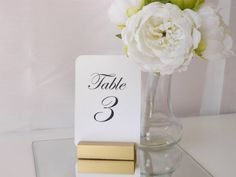 Gold Table Number Holder available at https://www.etsy.com/