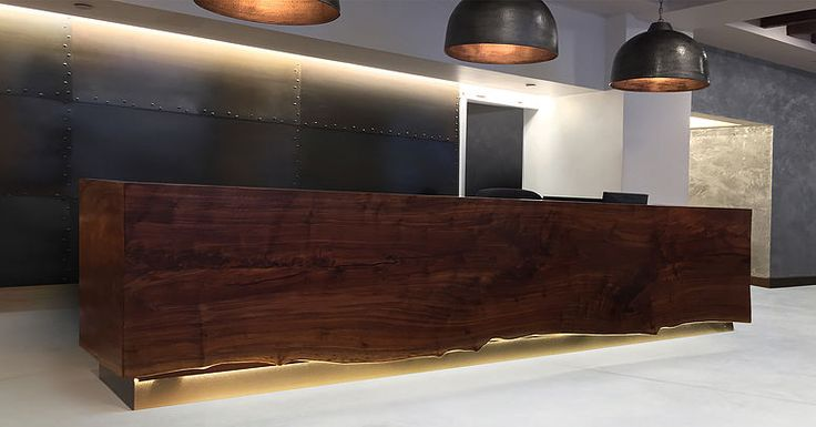 30 best images about reception desks on pinterest for Reclaimed wood new york