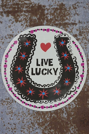 LIVE LUCKY car magnet