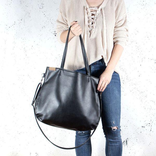 Handtasche - Pacco bag schwarz Schultertasche alltag vegan - ein Designerstück von cocoono bei DaWanda