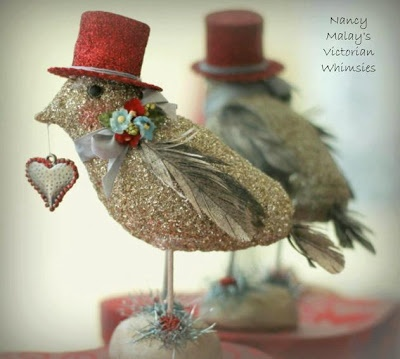 Victorian Whimsies craft bird with heart