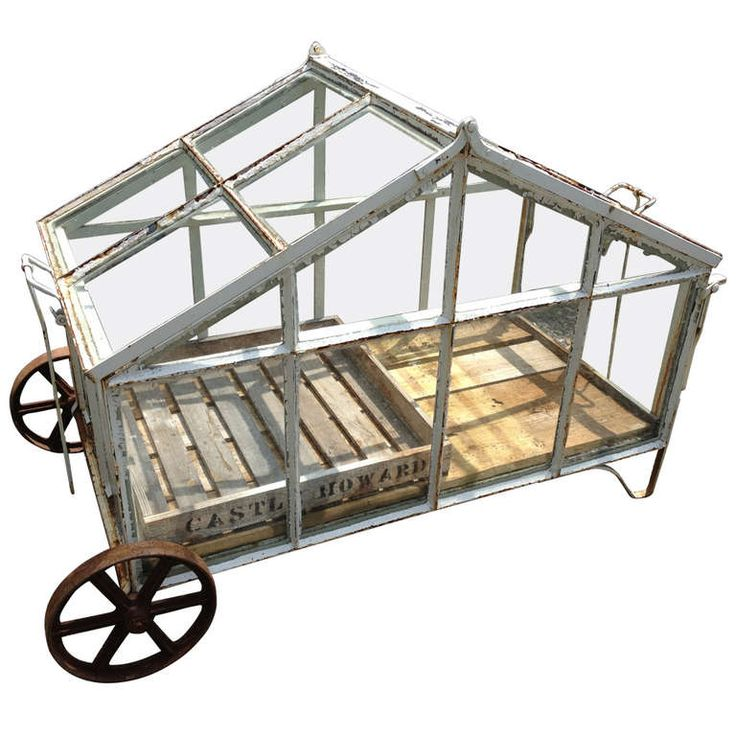 Copy this?? Edwardian-Style Portable Greenhouse Cart | From a unique collection of antique and modern garden ornaments at http://www.1stdibs.com/furniture/building-garden/garden-ornaments/