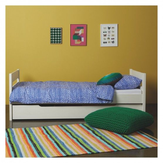 PONGO Kids' white EU single trundle bed with guest mattress 90cm | Buy now at Habitat UK
