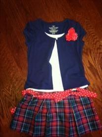 NWOT- Sz 6-6x Girls Dress by Faded Glory     Price: $7.00: 66X Girls, Sz 66X