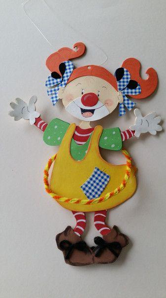 Fensterschmuck - Fensterbild Clown Mädchen - ein Designerstück von Esprit33 bei DaWanda