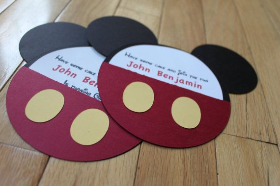 Mickey Mouse Inspired Birthday Invitations by PeachyPieParties, $15.00