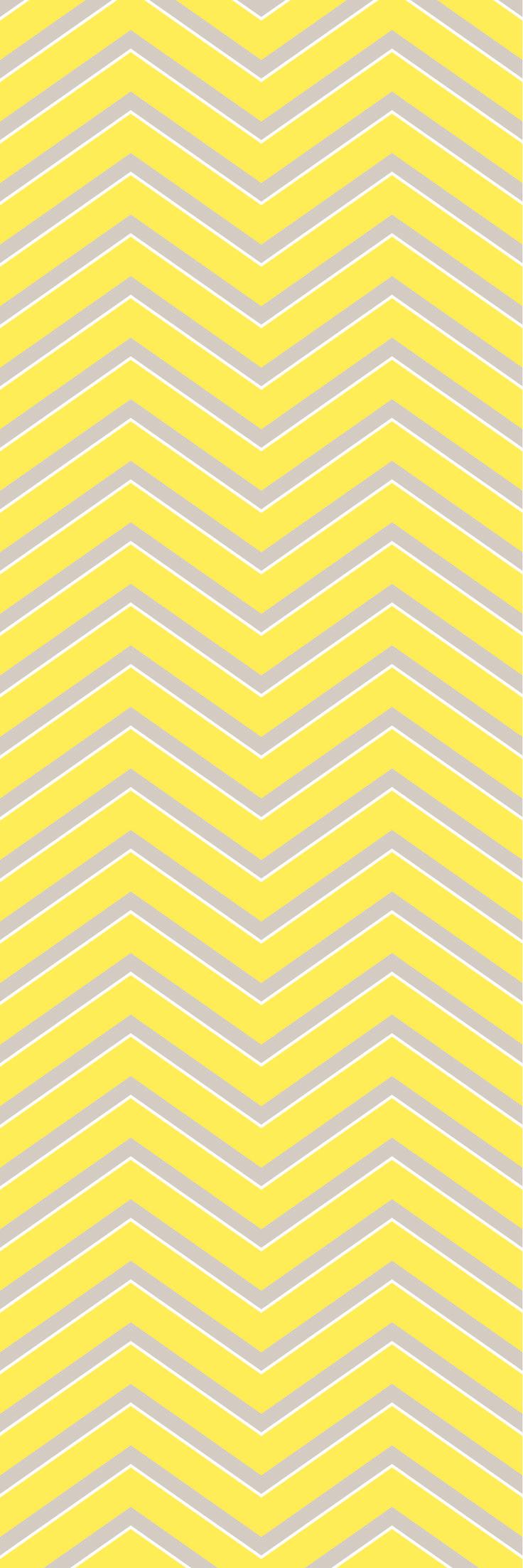 Custom printed Chevron wallpaper from the 'DUCKLING' colour range #chevron #wallpaper #muurgraphics