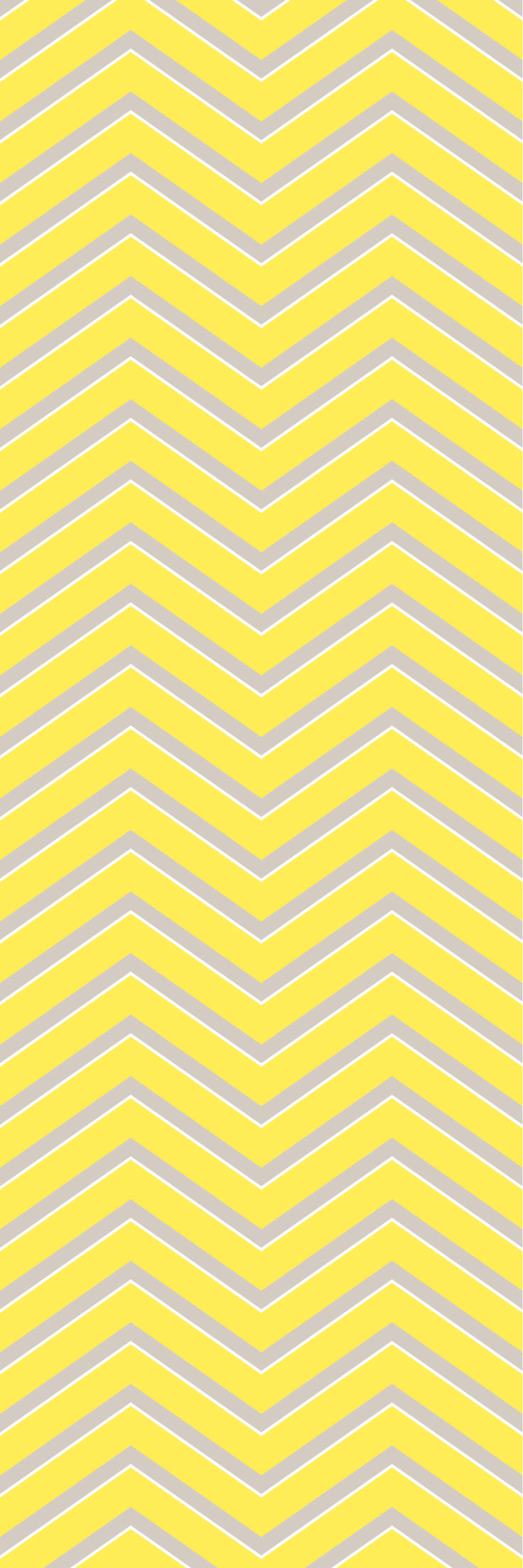 Custom printed Chevron wallpaper from the 'DUCKLING' colour range #chevron #wallpaper #muurgraphics