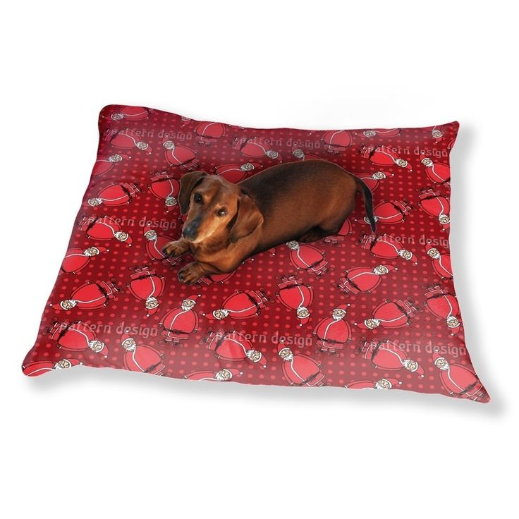 Uneekee Dotty Santa Rot Dog Pillow Luxury Dog / Cat Pet Bed