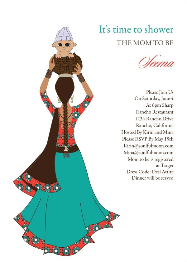 17 Best ideas about Indian Baby Showers – Indian Baby Shower Invitation Cards