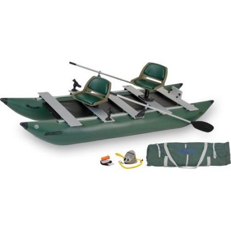 Sea Eagle 375FC FoldCat Inflatable Pontoon Boat Deluxe Package
