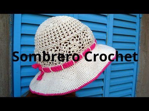 50892f06b33ac Sombrero playero en tejido crochet tutorial paso a paso. - YouTube ...
