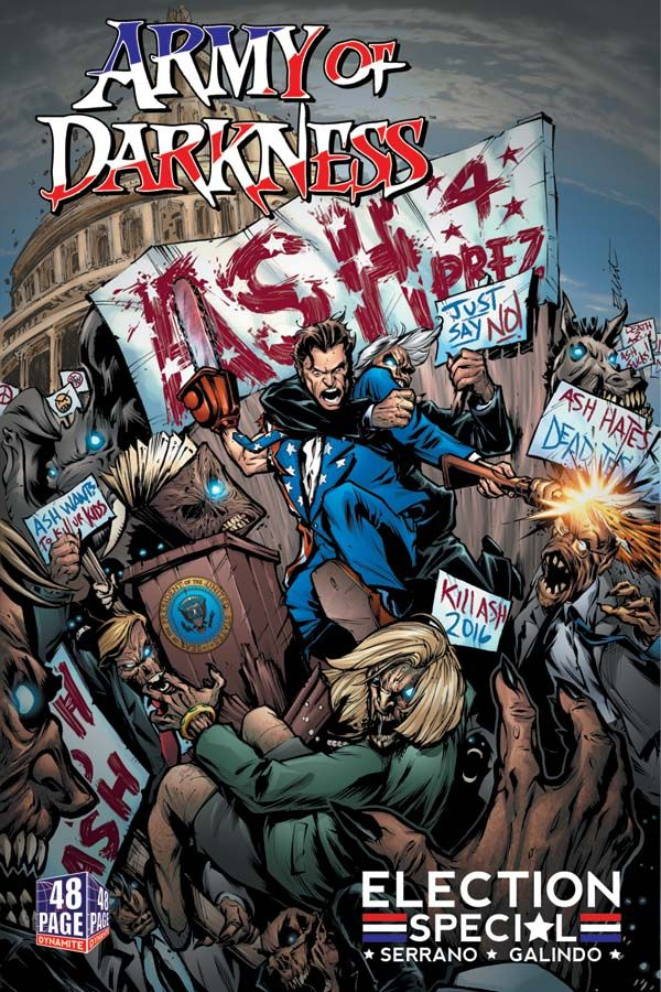 Army of Darkness: Ash for President, a one-shot from Elliott Serrano and Diego…