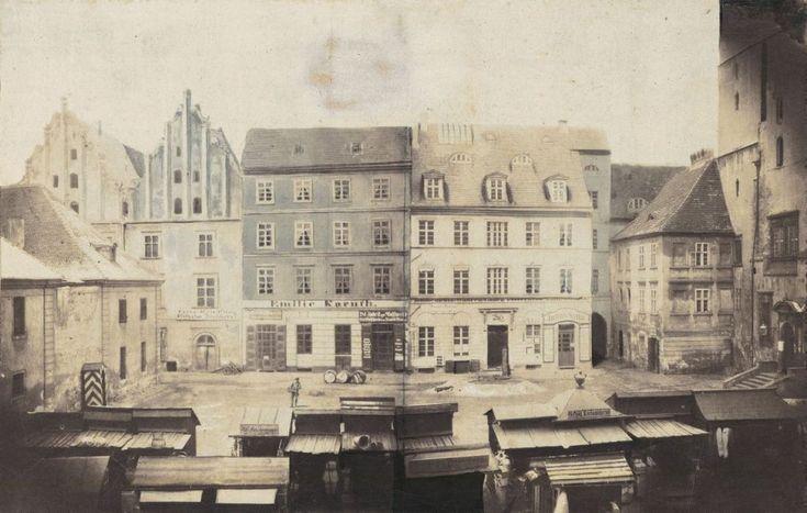 Targ Rybny najstarszy widok Wrocławia w zbiorach publicznych (znajduje się w Muzeum Architektury), wykonany przed 1859    Cały tekst: http://wroclaw.wyborcza.pl/wroclaw/5,35762,16955292.html?i=1#ixzz4jcL87eU4