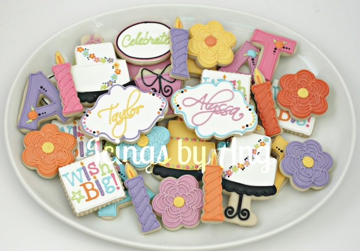 Icings by Ang: Birthday Cookies - great collection