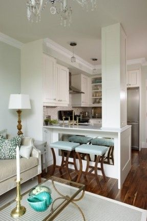 support beam in middle of kitchen - Google Search