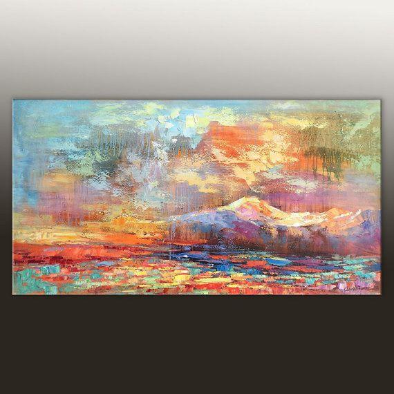 Arte abstracto, abstracto lienzo, contemporáneo de la pared arte, signo de cuarto de baño, Arte Original, gran pintura, arte contemporáneo, pintura al óleo