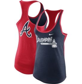 Keep your cool during those hot summer days at Turner Field and put on the Nike® Atlanta Braves Racerback Tank Top. The loose fit style gives you plenty of room for movement as you cheer on your Bravos to victory. Showcase your team pride and flaunt that famous Tomahawk logo on the front whether you're working out or watching the game. Support the Braves by wearing this Nike® Racerback top during the Dog Days of the season.