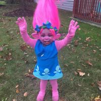 Mom Makes Toddlers Dream Come True with DIY Trolls Costume  and the Internet Goes Wild