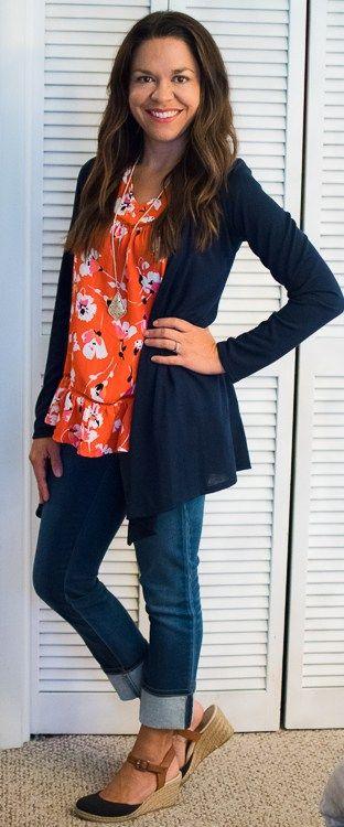 Crescent Cristobal Ruffle Hem Detail Top 41Hawthorn Abrianna Longsleeve Knit Cardigan - Stitch Fix Review September 2016 #stitchfix @stitchfix #somuchtoenjoy somuchtoenjoy.com