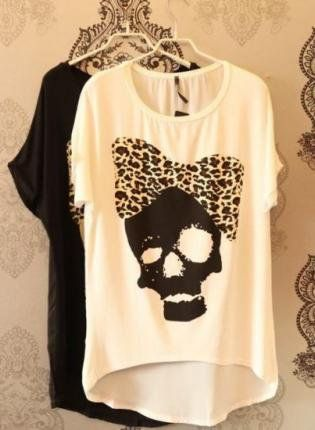 Skull with leopard print bow - www.wearelse.com - #fashion #style