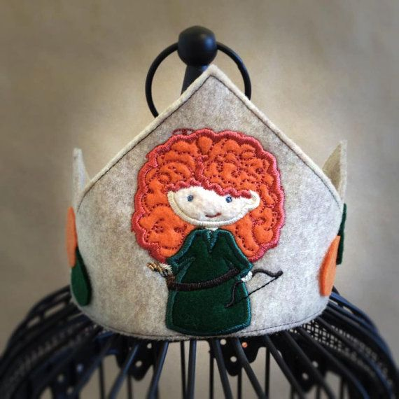 Merida felt crown Merida Brave costume by MyHeartnSoulBoutique, $15.00