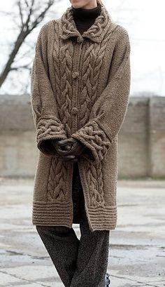 abrigo con trenzas