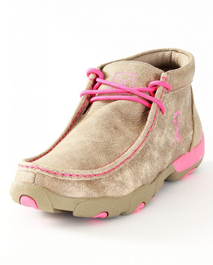 Twisted X Boots® Ladies' Pink Driving Mocs - Fort Western Stores