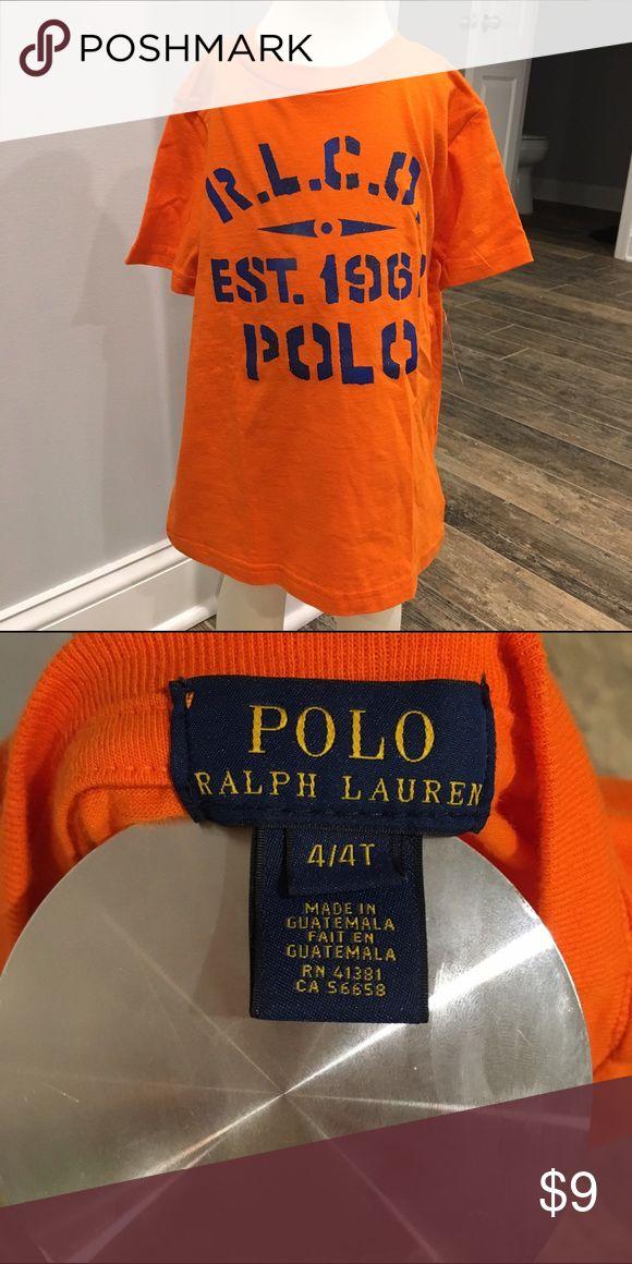 NWT Polo by Ralph Lauren Boys Orange Tee 4/4T NWT Polo by Ralph Lauren Boys Orange Graphic Tee 4/4T Polo by Ralph Lauren Shirts & Tops Tees - Short Sleeve