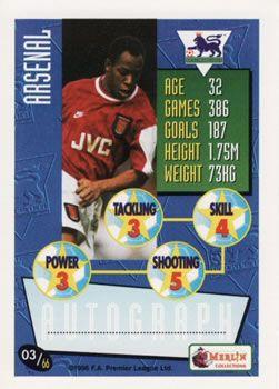 1996-97 Merlin's Premier League #3 Ian Wright Back