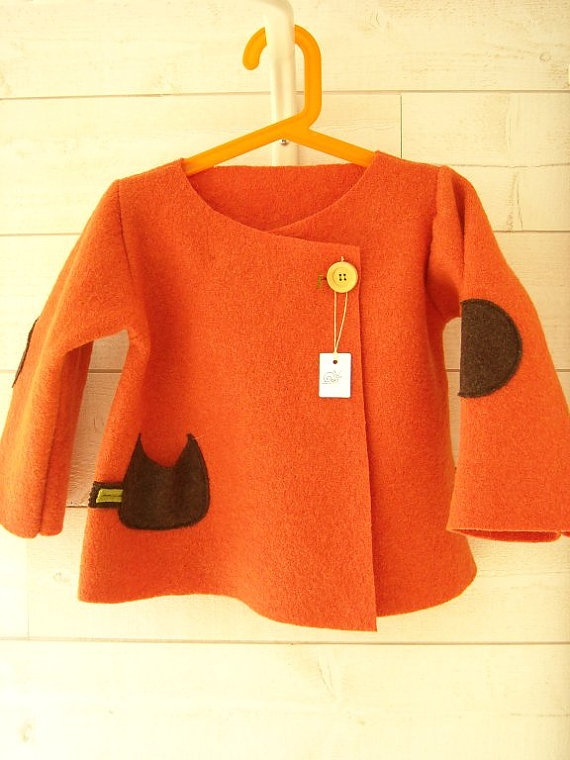 so so cute wool felt jacket--for p and o