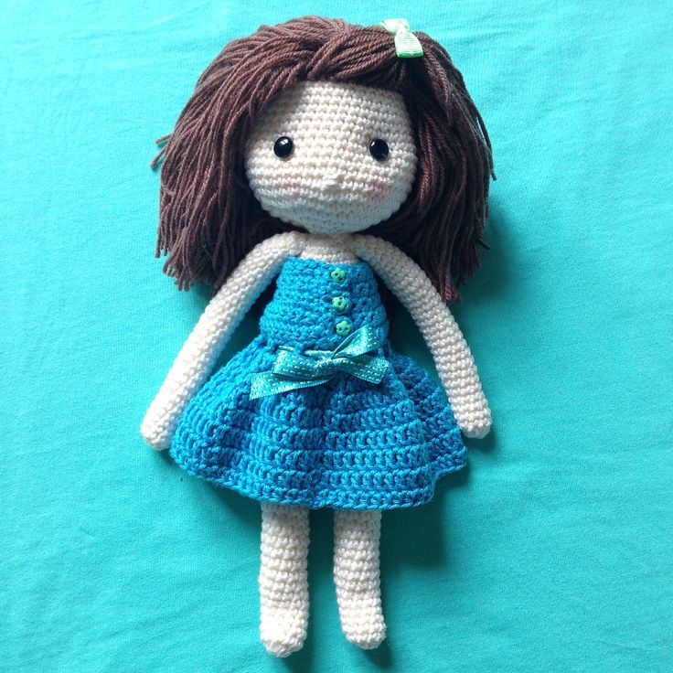 """Meet Olivia! Made after Isabelle Kessedjian's pattern from the book """"My crochet doll"""""""