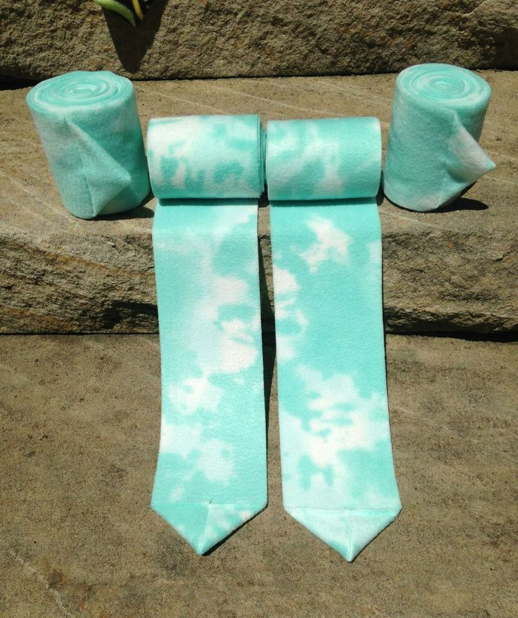 These are a stunning set of aqua tie-die polo wraps that Canter Couture Equine Designs offer! Check out our website to place an order before they're gone! http://cantercouture.wix.com/equinedesigns