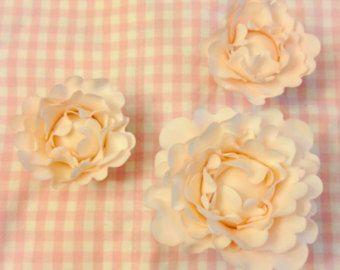 Delicate Sugar Flowers ~ Peony set ~ Gum Paste Flowers ~ Edible cake topper