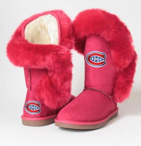 Montreal Canadien Habs Red Winter Boots.