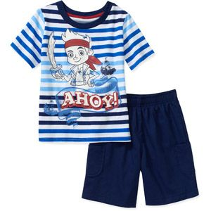 Disney Baby Boys Jake and the Neverland Pirates 2-Piece Tee and Short Set