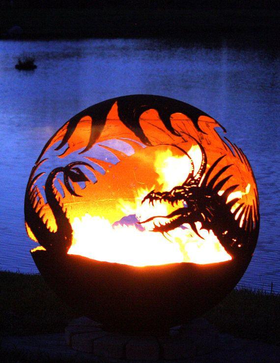 Die besten 25+ Feuerkugel Ideen auf Pinterest Feuerschale rost - feuertonne selber machen