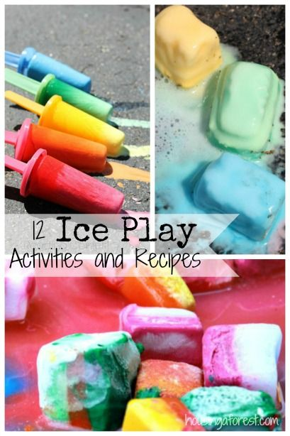 12 Ice Play Activities and Recipes ~ perfect for summer