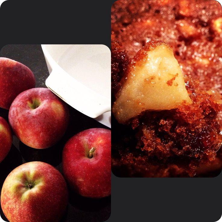 Gâteau/pouding pommes et épices