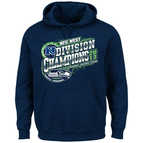 Seattle Seahawks 2013 NFC West Division Champions Pullover Hoodie - College Navy