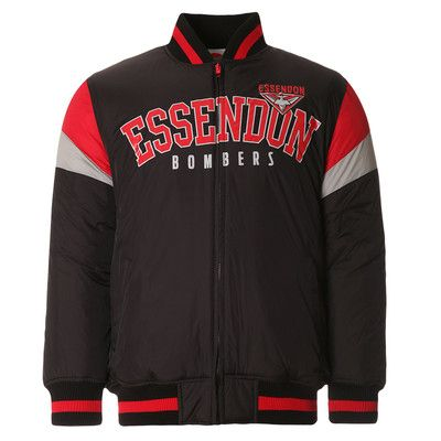 AFL Mens Fan Varsity Jacket Essendon Bombers [Size: S]