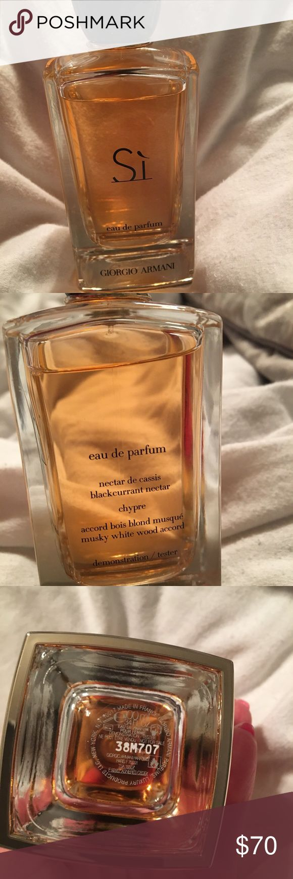 Si Eau de Parfum by Giorgio Armani Authentic Si Eau de Parfum by Giorgio Armani 3.4 oz bottle.  The Parfum last longer and smells stronger. Use a little and it will go a long way Giorgio Armani Other