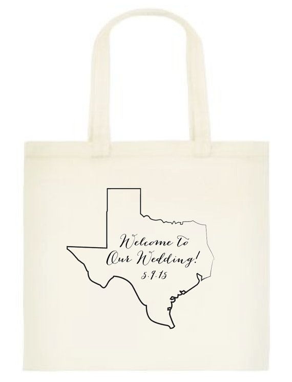 10 Welcome To Our Wedding Texas Totes By Cwdesigns2010 On Etsy