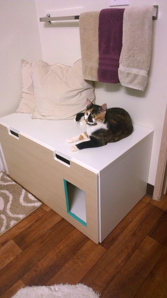 Ikea Hack Stew Speicherbank Zu Einem Versteck Katzentoilette